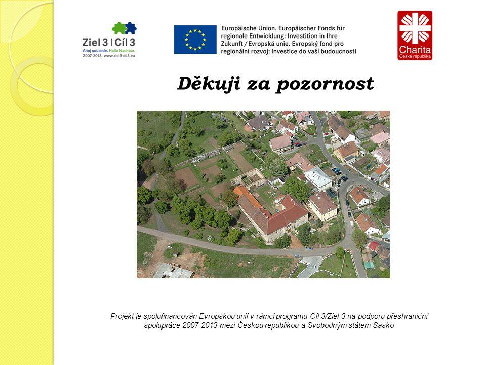 Projekt je spolufinancován Evropskou unií v rámci programu Cíl 3/Ziel 3 na podporu přeshraniční spolupráce 2007-2013 mezi Českou republikou a Svobodným státem Sasko Děkuji za pozornost