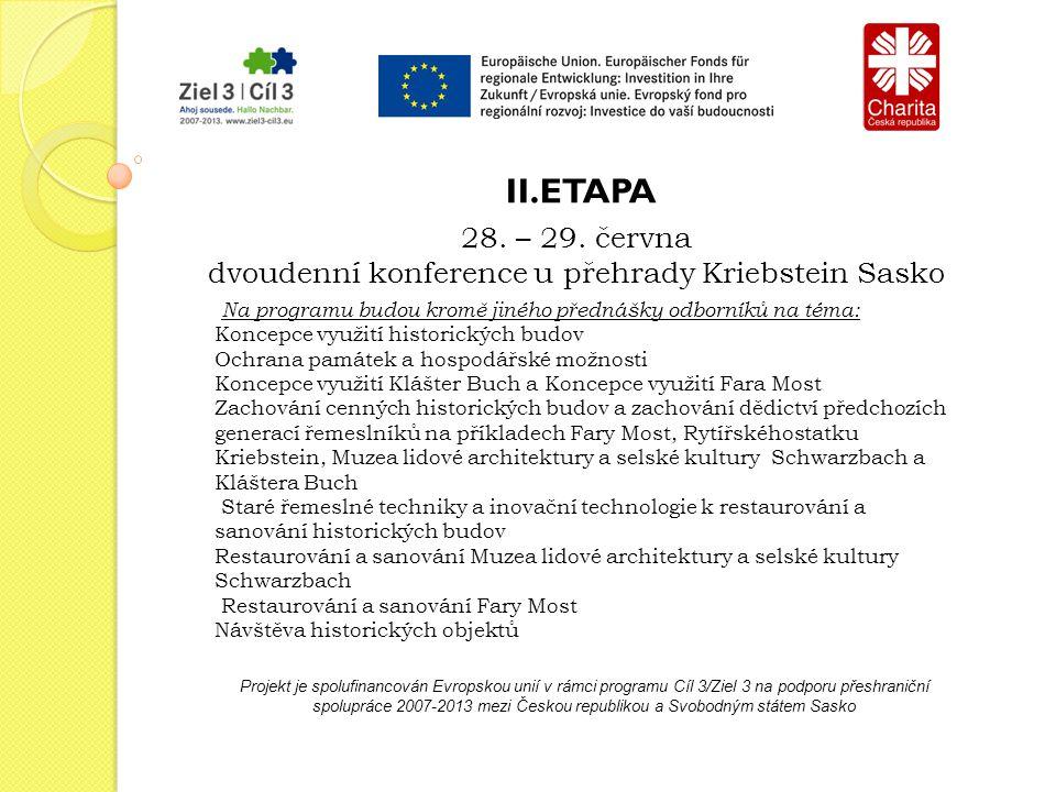 Projekt je spolufinancován Evropskou unií v rámci programu Cíl 3/Ziel 3 na podporu přeshraniční spolupráce 2007-2013 mezi Českou republikou a Svobodným státem Sasko 12.