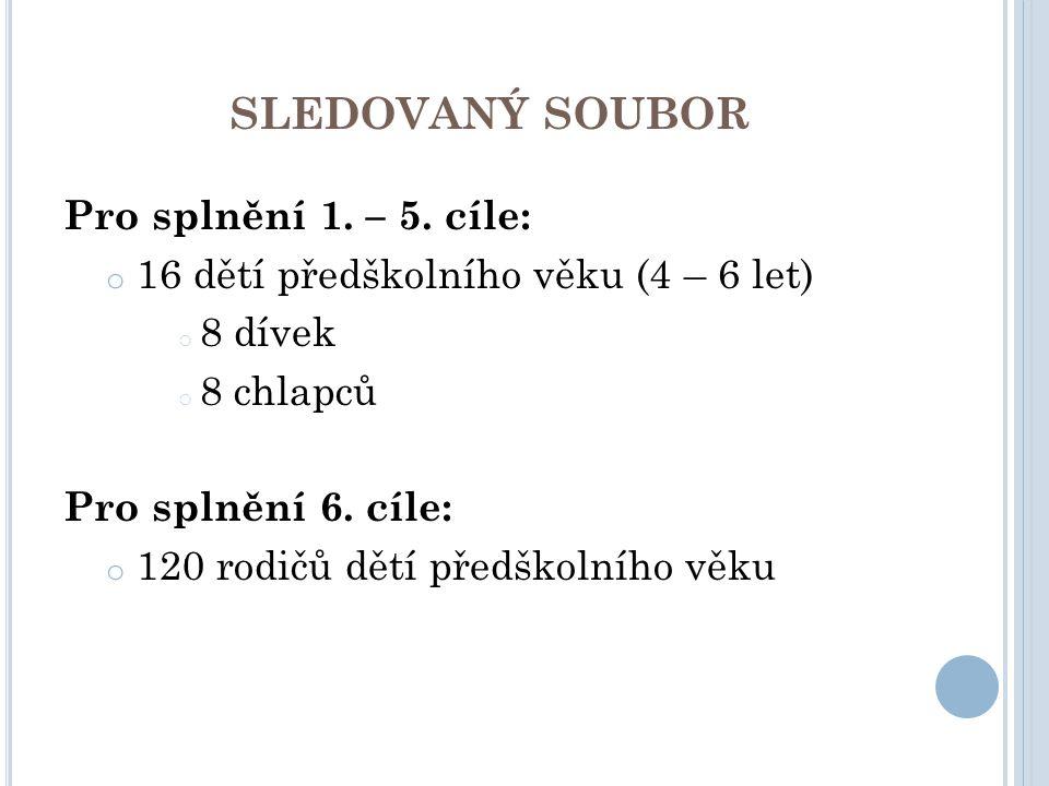 SLEDOVANÝ SOUBOR Pro splnění 1.– 5.