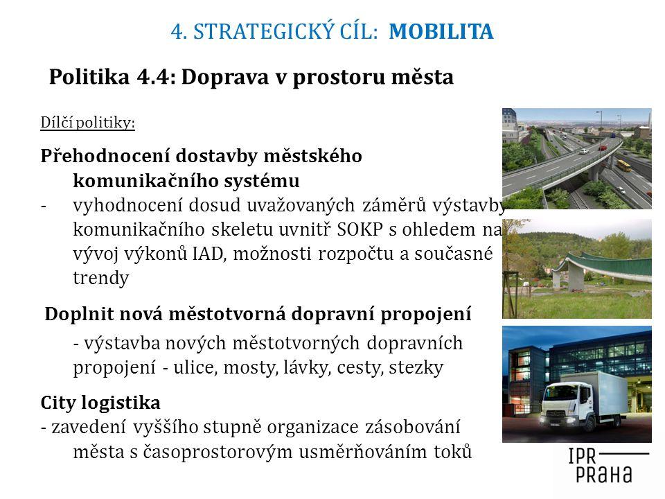 Politika 4.4: Doprava v prostoru města Dílčí politiky: Přehodnocení dostavby městského komunikačního systému -vyhodnocení dosud uvažovaných záměrů výs