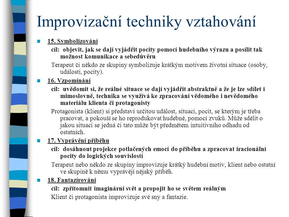 Improvizační techniky vztahování 15.