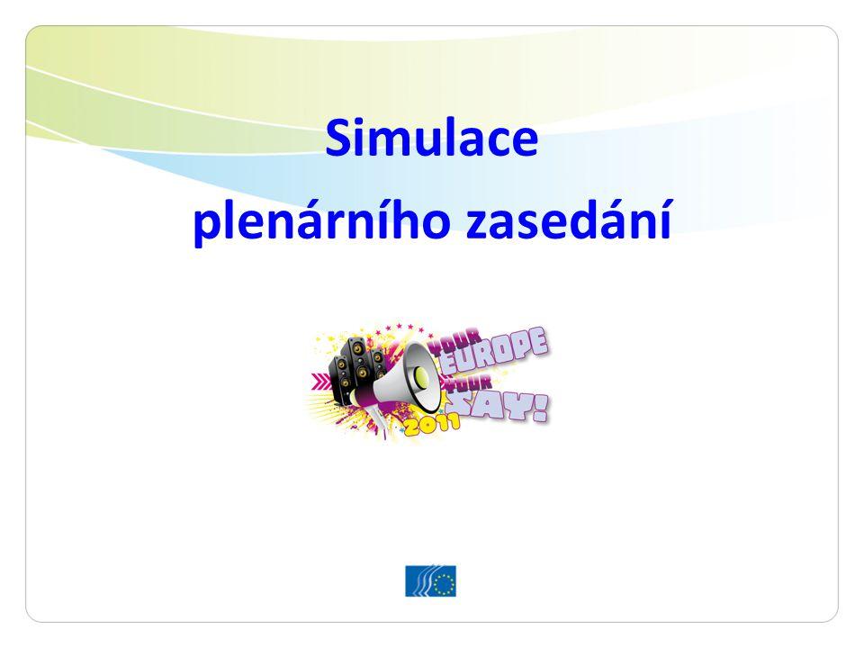 Simulace plenárního zasedání