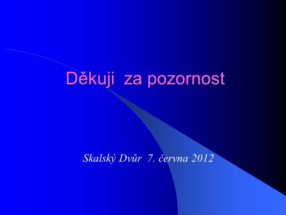Děkuji za pozornost Skalský Dvůr 7. června 2012