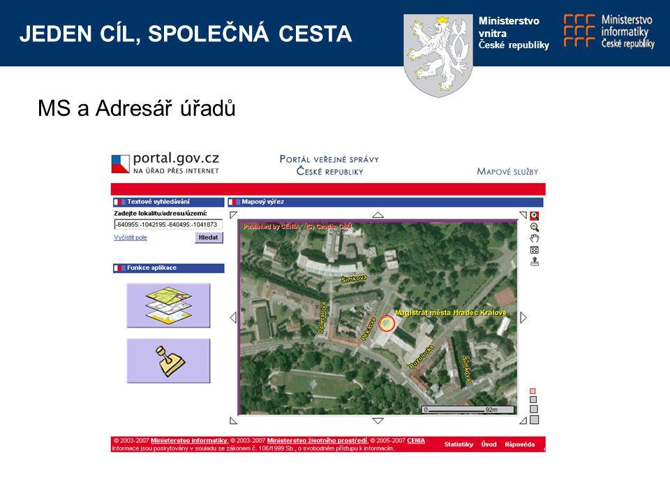 JEDEN CÍL, SPOLEČNÁ CESTA Ministerstvo vnitra České republiky MS a Adresář úřadů