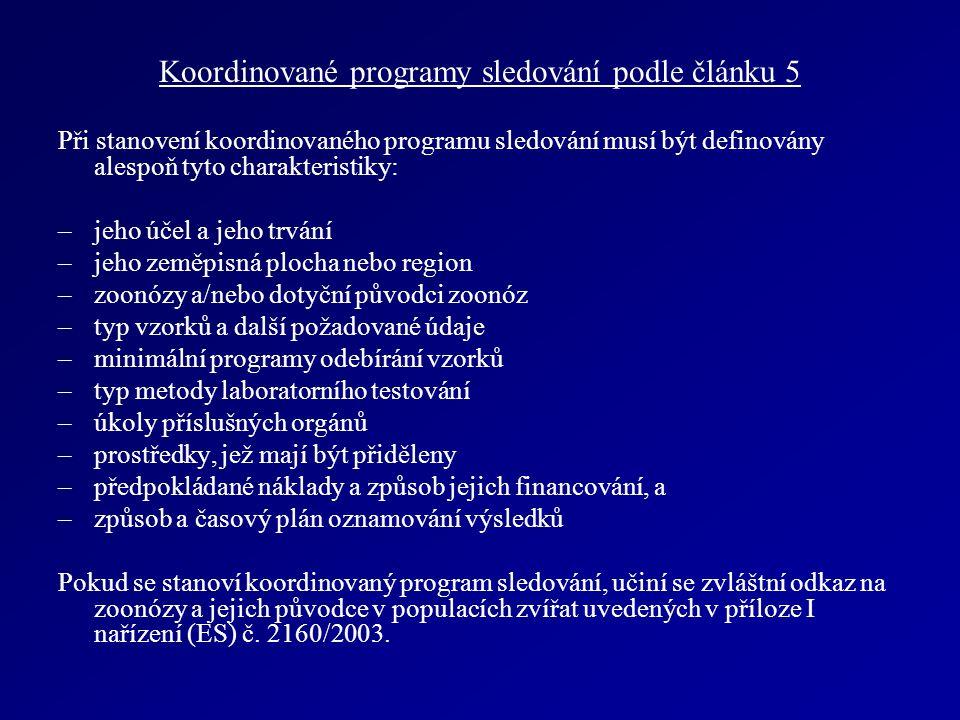 Koordinované programy sledování podle článku 5 Při stanovení koordinovaného programu sledování musí být definovány alespoň tyto charakteristiky: –jeho