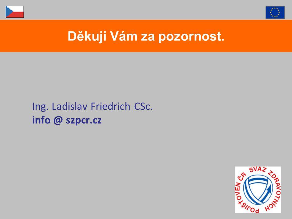 Ing. Ladislav Friedrich CSc. info @ szpcr.cz Děkuji Vám za pozornost.