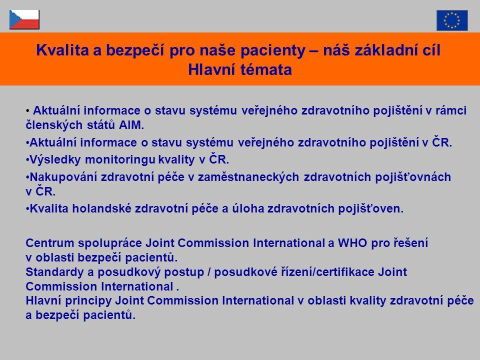 Aktuální informace o stavu systému veřejného zdravotního pojištění v rámci členských států AIM. Aktuální informace o stavu systému veřejného zdravotní