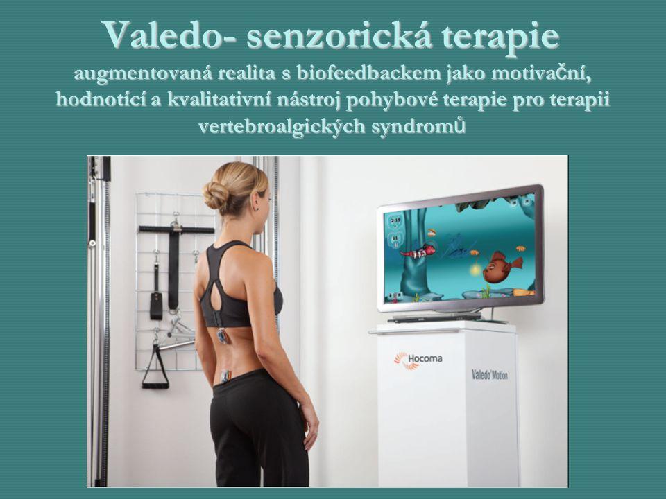 Valedo- senzorická terapie augmentovaná realita s biofeedbackem jako motiva č ní, hodnotící a kvalitativní nástroj pohybové terapie pro terapii verteb