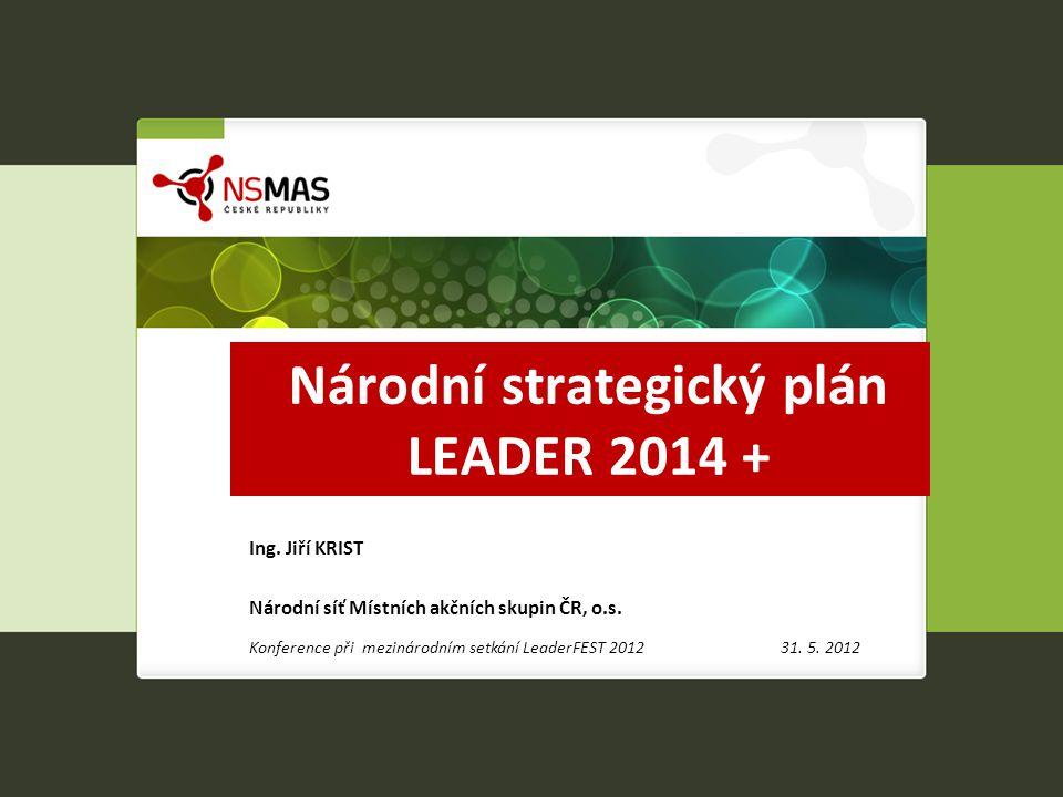 Národní strategický plán LEADER 2014+ STRATEGICKÝ POZIČNÍ DOKUMENT Národní sítě Místních akčních skupin České republiky pro přípravu politik rozvoje venkova v rámci programovacího období 2014 – 2020.