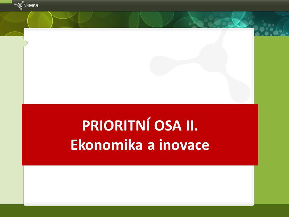 PRIORITNÍ OSA II. Ekonomika a inovace