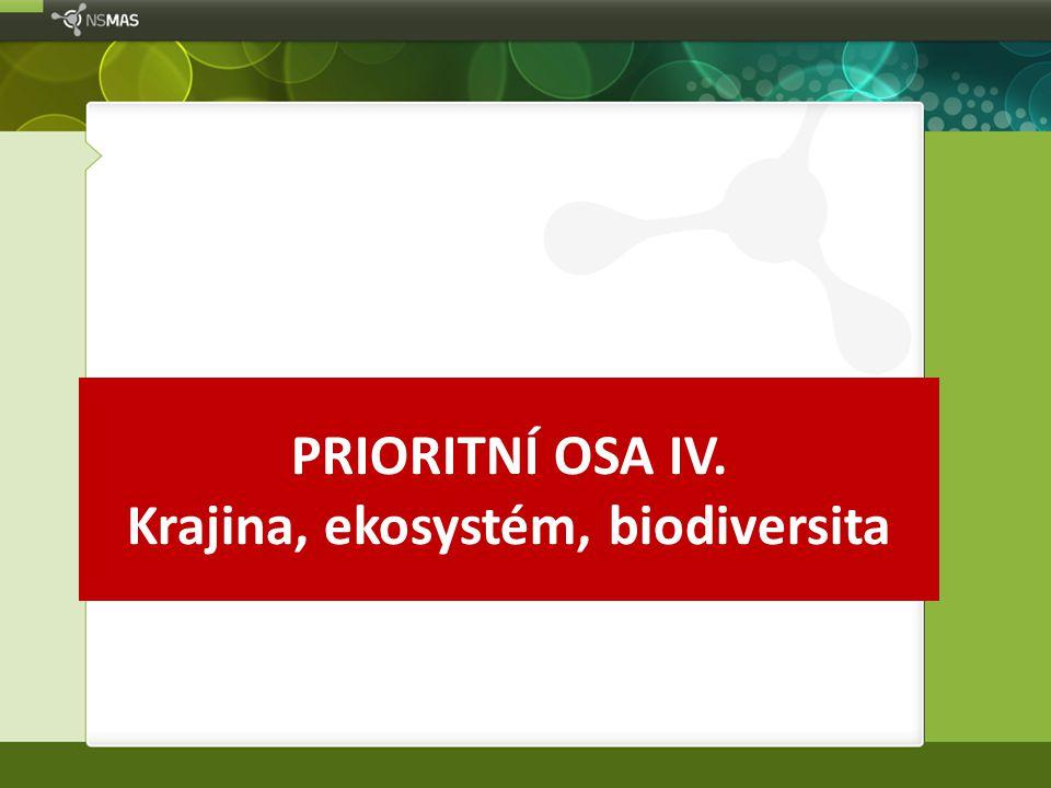 PRIORITNÍ OSA IV. Krajina, ekosystém, biodiversita