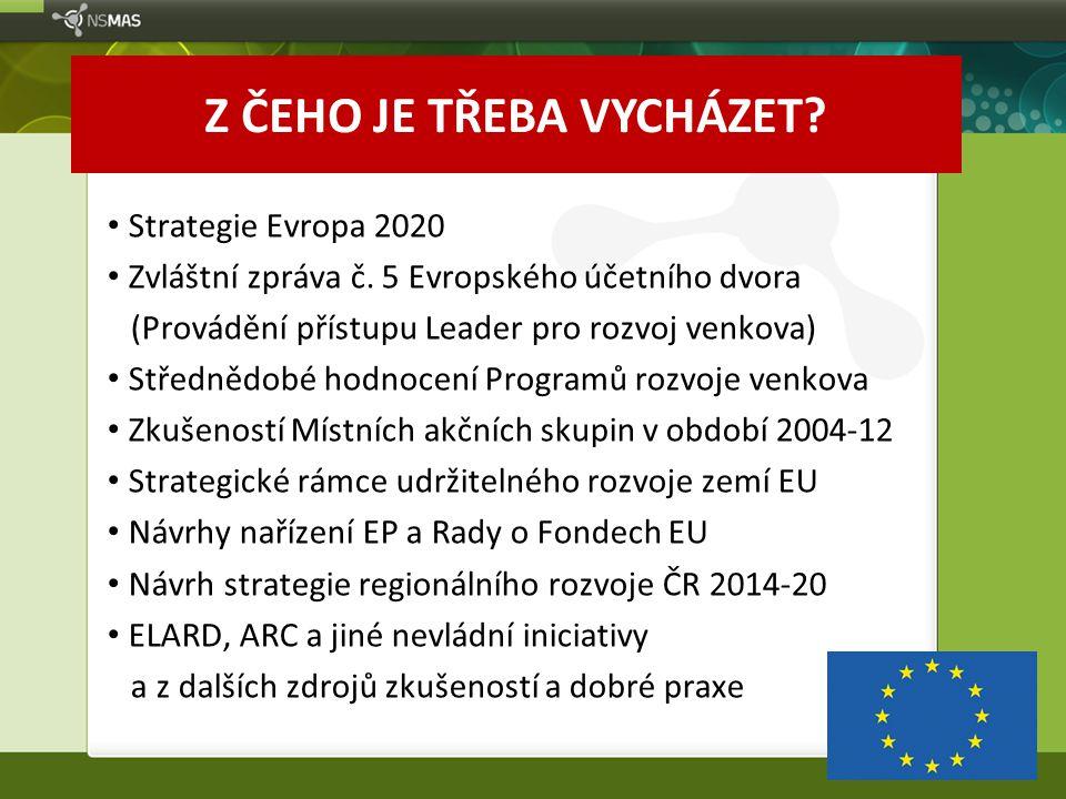 """Zlepšit zacílení využívání zdrojů pro rozvoj venkova Zvýšit efektivitu používaných metod Rovné příležitosti pro různé typy příjemců Integrace témat, synergie záměrů Více inovací a lepší řešení pro moderní venkov Podíl na úsilí za konkurenceschopnou Evropu Rovnoprávný přístup k vzdělávání a rozvoji talentů Chceme sdílet cíle v rámci """"STRATEGIE EVROPA 2020"""