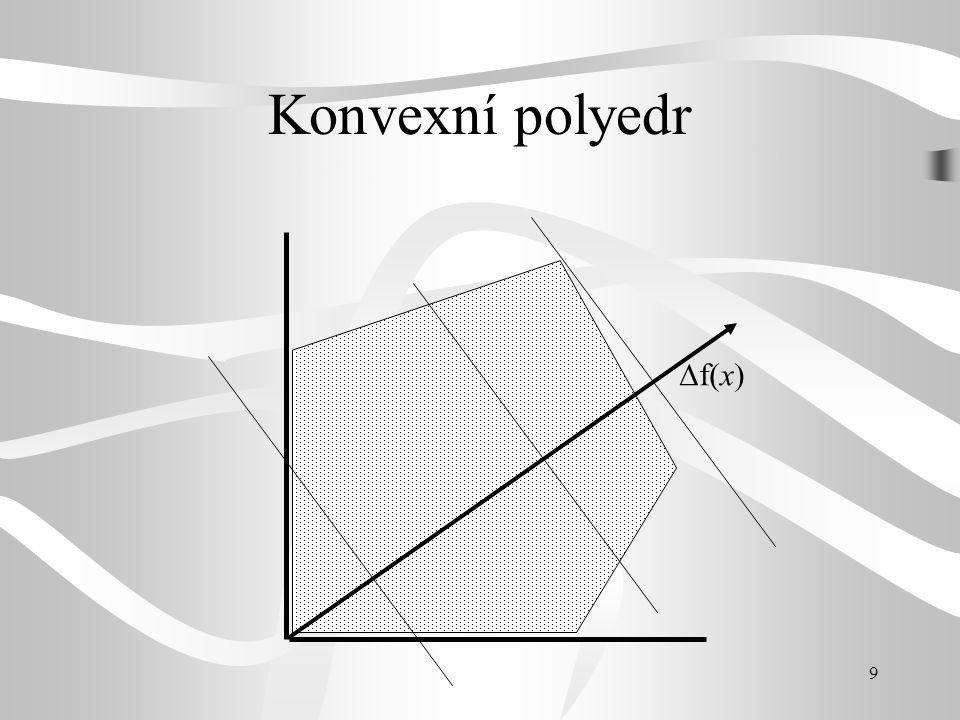 10 Polyedrický kužel  f(x)