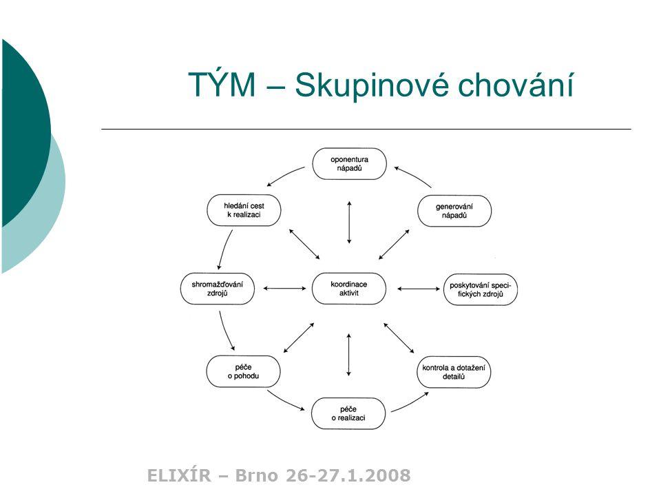 ELIXÍR – Brno 26-27.1.2008 TÝM – Skupinové chování