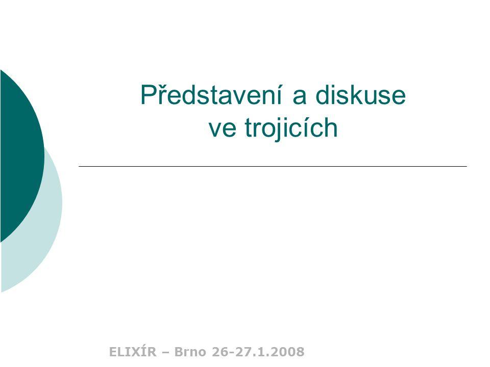 ELIXÍR – Brno 26-27.1.2008 Představení a diskuse ve trojicích