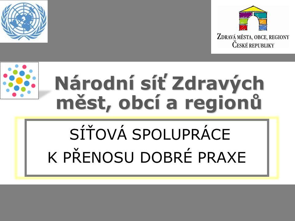 Zdravá města, obce, regiony v ČR 2013 115 členů NSZM (města, kraje, mikroreg., MAS, obce) – 56% obyvatel ČR