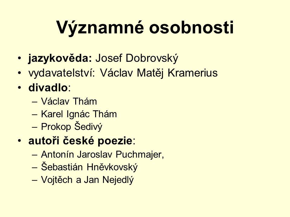 první české noviny nutnost šíření vlasteneckých myšlenek mezi široké vrstvy obyvatelstva včetně venkova Václav Matěj Kramerius Krameriovy c.