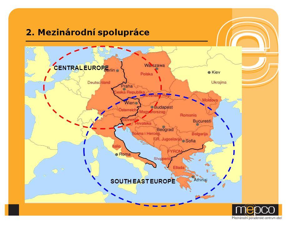 2. Mezinárodní spolupráce SOUTH EAST EUROPE CENTRAL EUROPE