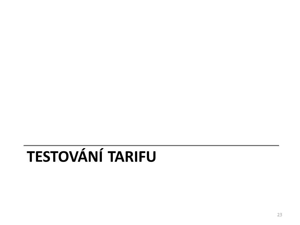 TESTOVÁNÍ TARIFU 23
