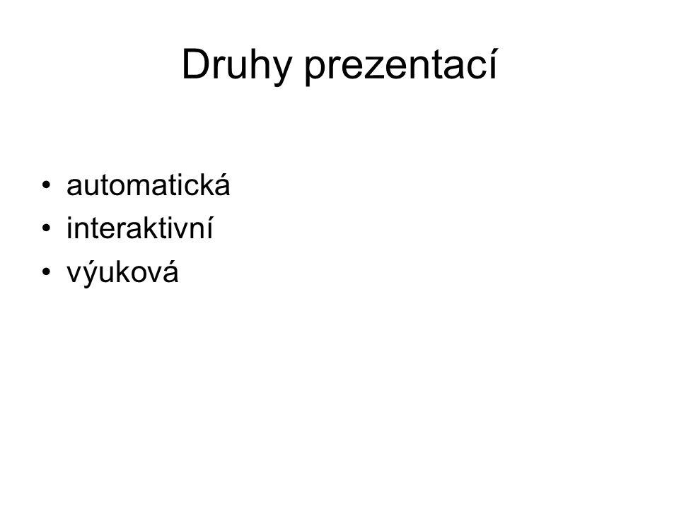 Automatická prezentace bez účasti člověka