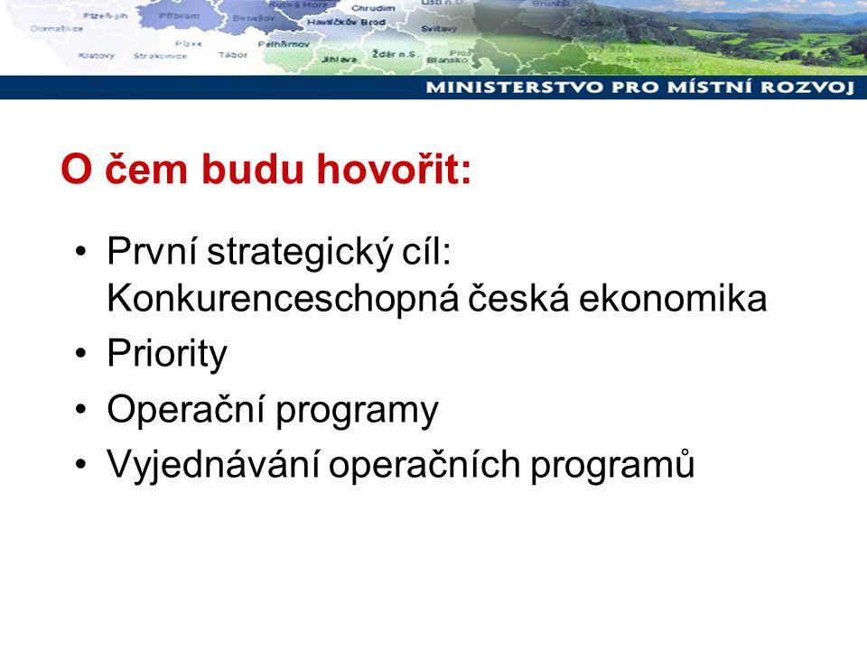 Vyjednávání OPVaVpI  13.4. 2007 odeslání EK; první poziční dokument EK až 16.