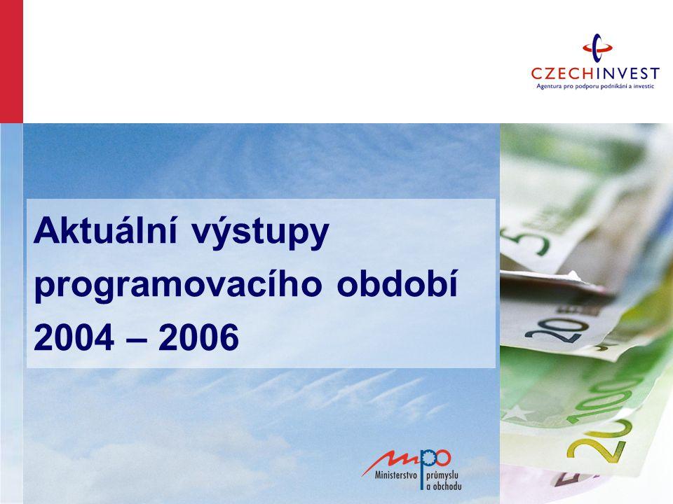 Aktuální výstupy programovacího období 2004 – 2006