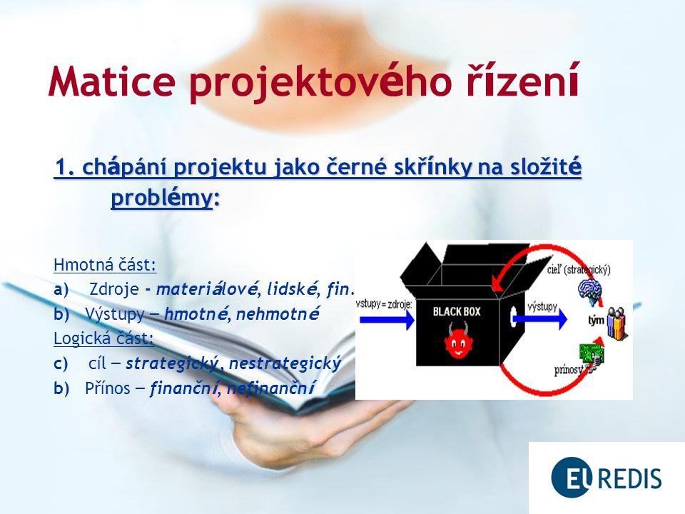 Matice projektov é ho ř í zen í 2.projektový troj ú heln í k .