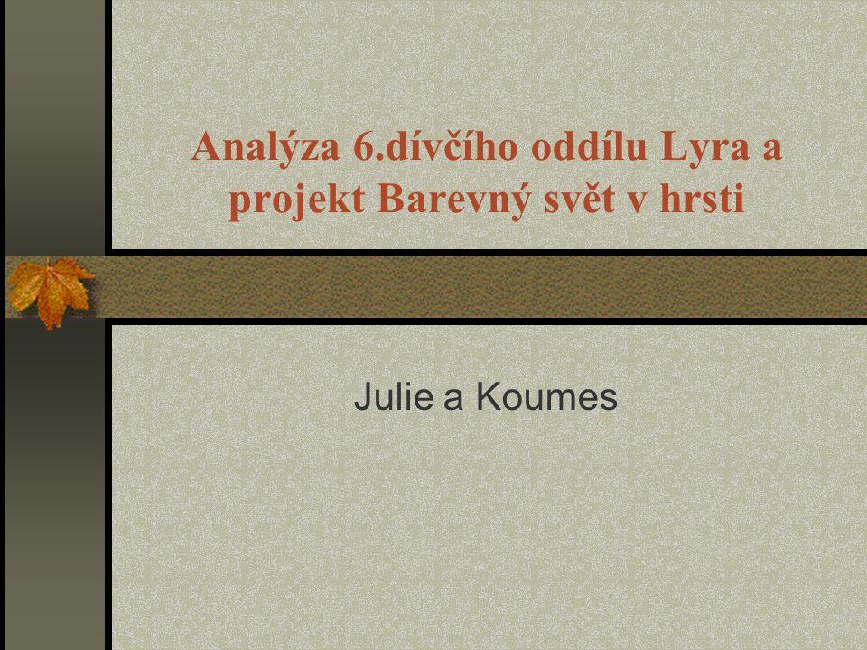 Analýza 6.dívčího oddílu Lyra a projekt Barevný svět v hrsti Julie a Koumes