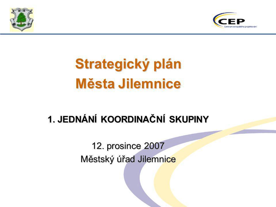 Strategický plán Města Jilemnice 1. JEDNÁNÍ KOORDINAČNÍ SKUPINY 12. prosince 2007 Městský úřad Jilemnice