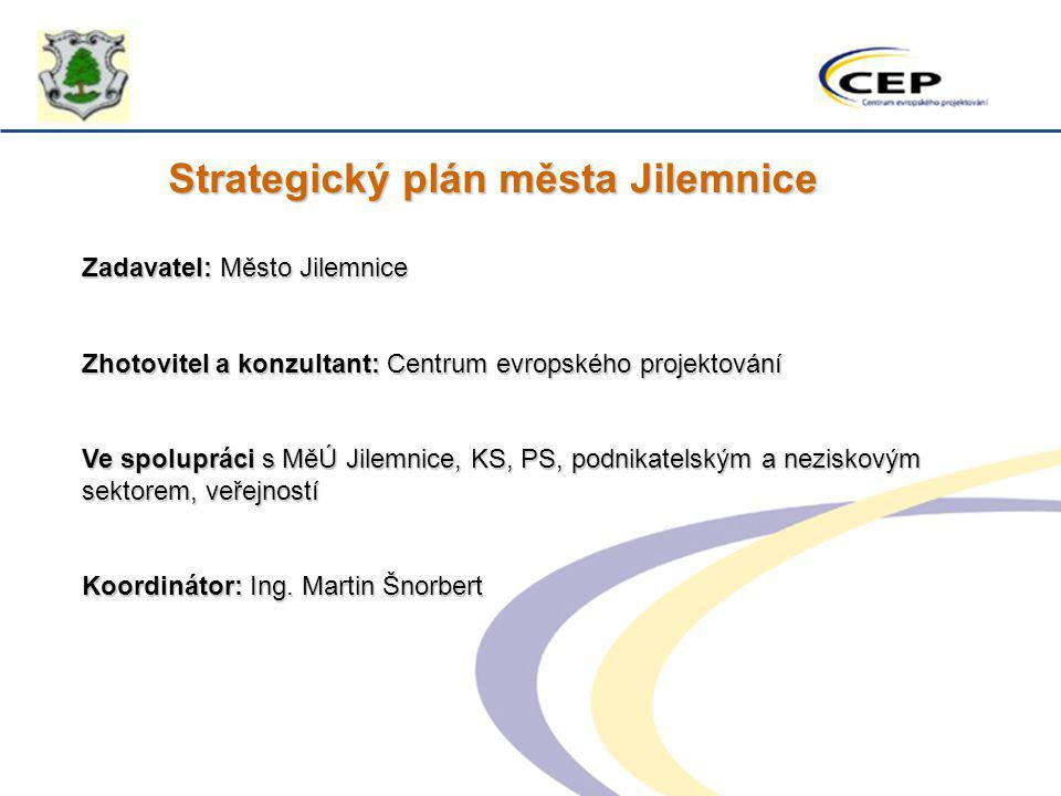 Strategický plán města Jilemnice Zadavatel: Město Jilemnice Zhotovitel a konzultant: Centrum evropského projektování Ve spolupráci s MěÚ Jilemnice, KS