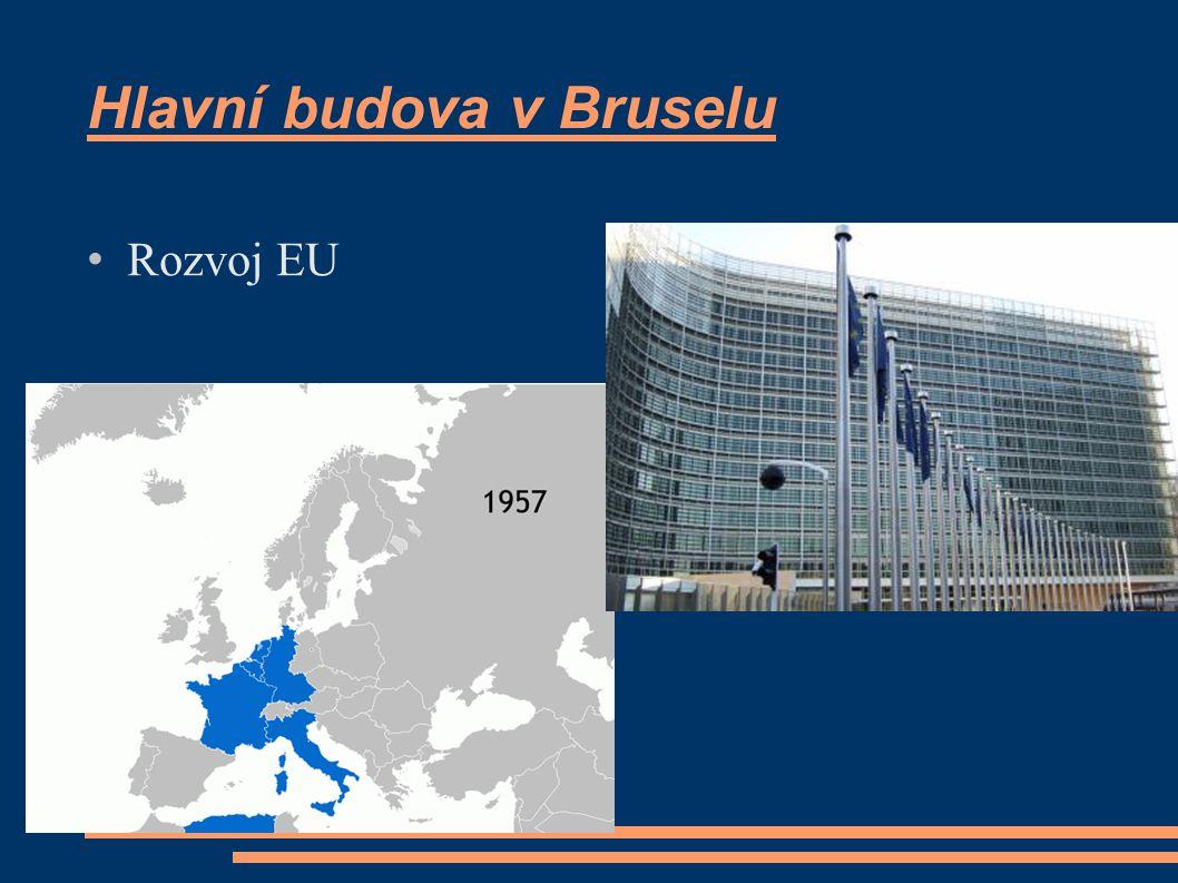 Hlavní budova v Bruselu Rozvoj EU