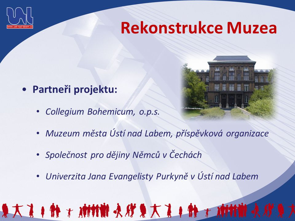 Rekonstrukce Muzea Partneři projektu: Collegium Bohemicum, o.p.s.