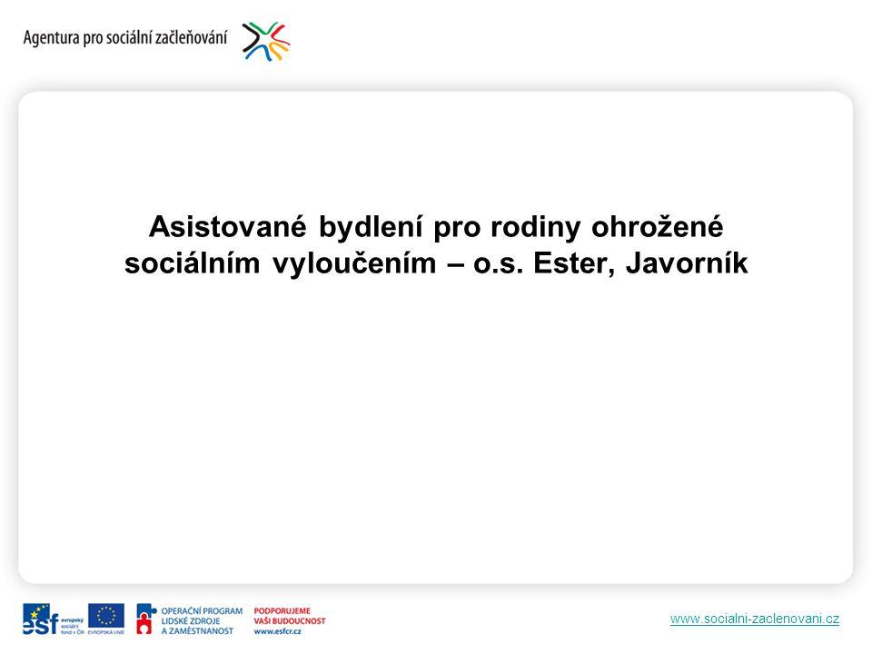 www.socialni-zaclenovani.cz Asistované bydlení pro rodiny ohrožené sociálním vyloučením – o.s.