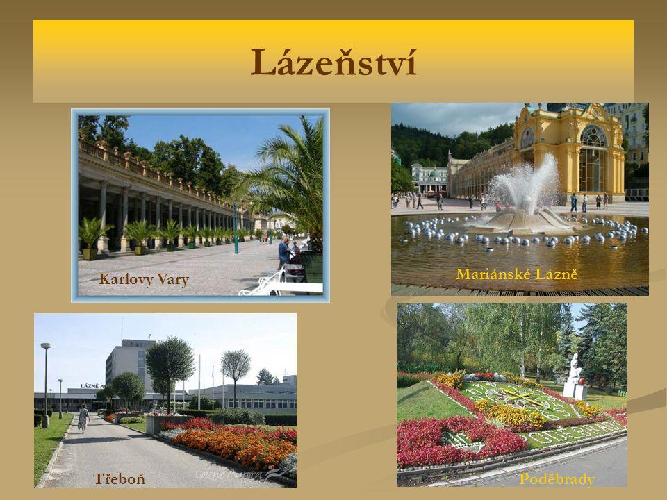 Lázeňství Karlovy Vary Třeboň Mariánské Lázně Poděbrady