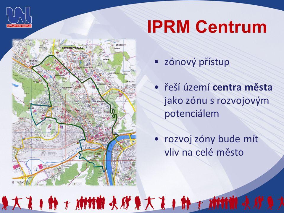 IPRM Centrum zónový přístup řeší území centra města jako zónu s rozvojovým potenciálem rozvoj zóny bude mít vliv na celé město