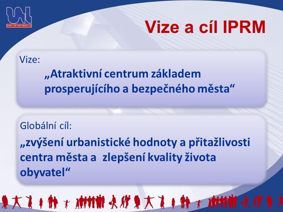 """Vize a cíl IPRM Vize: """"Atraktivní centrum základem prosperujícího a bezpečného města"""" Vize: """"Atraktivní centrum základem prosperujícího a bezpečného m"""