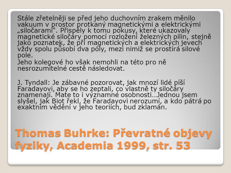 Thomas Buhrke: Převratné objevy fyziky, Academia 1999, str.