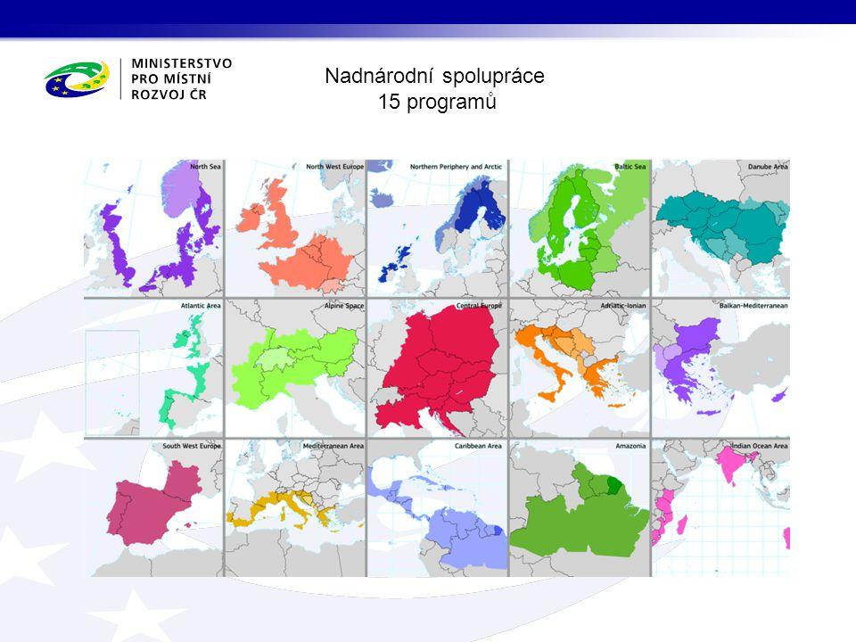 Meziregionální spolupráce 4 programy celé území EU