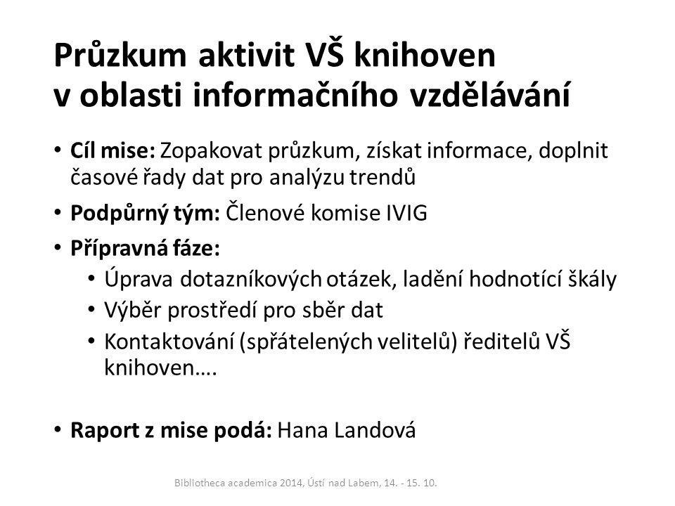 Seminář IVIG 2014 Cíl mise: Uspořádat již 12.