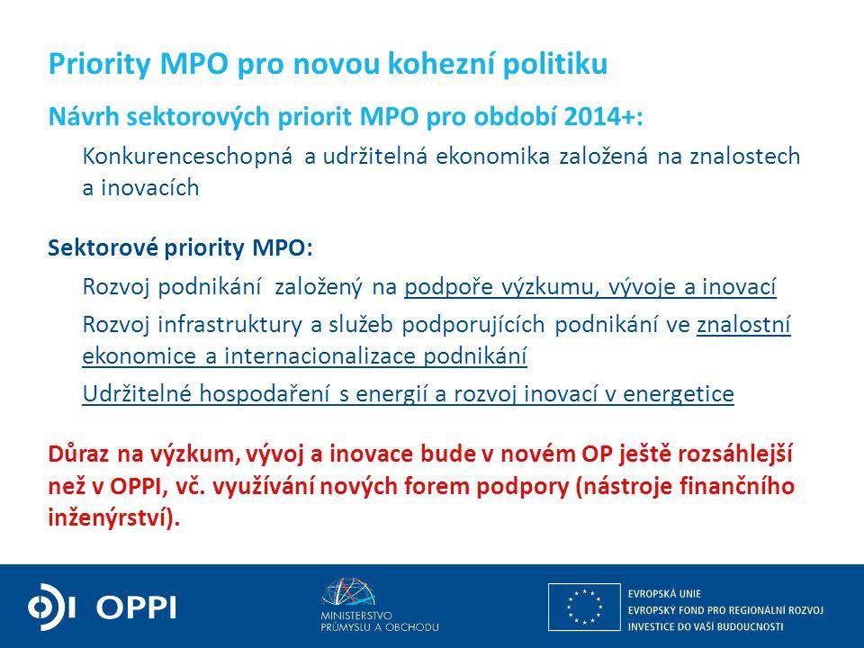 Ing. Martin Kocourek ministr průmyslu a obchodu ZPĚT NA VRCHOL – INSTITUCE, INOVACE A INFRASTRUKTURA Priority MPO pro novou kohezní politiku Návrh sek