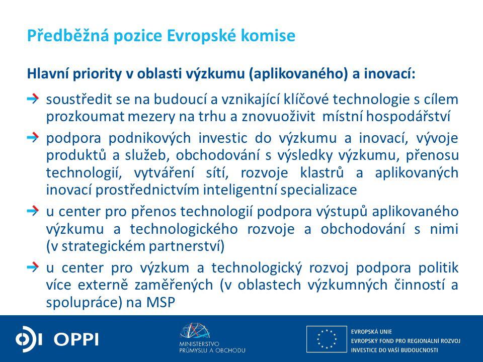 Ing. Martin Kocourek ministr průmyslu a obchodu ZPĚT NA VRCHOL – INSTITUCE, INOVACE A INFRASTRUKTURA Předběžná pozice Evropské komise Hlavní priority