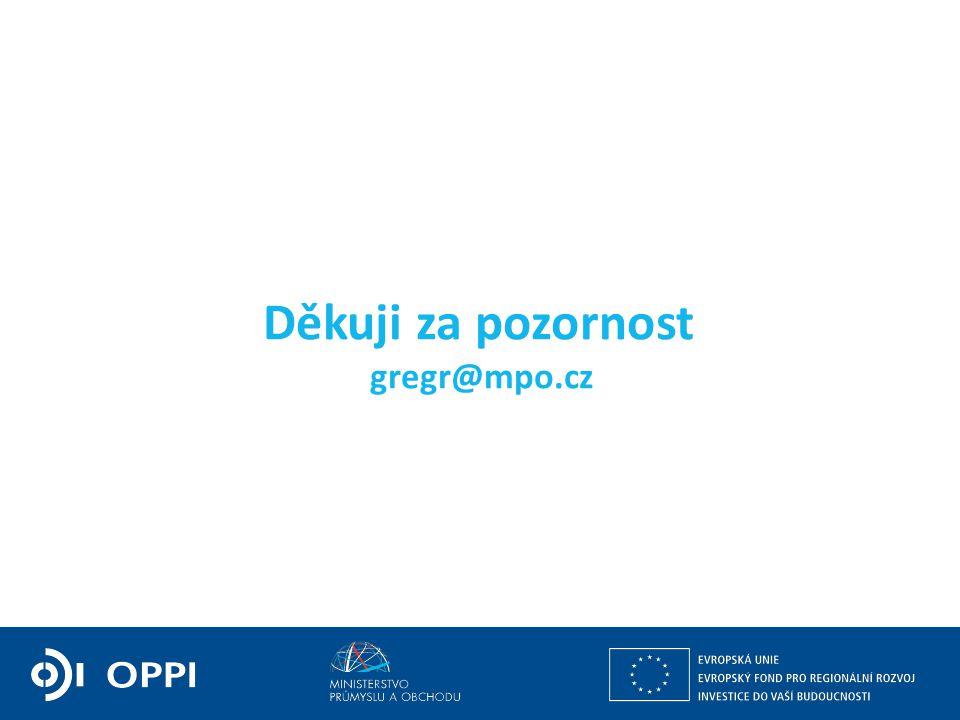 Ing. Martin Kocourek ministr průmyslu a obchodu ZPĚT NA VRCHOL – INSTITUCE, INOVACE A INFRASTRUKTURA Děkuji za pozornost gregr@mpo.cz