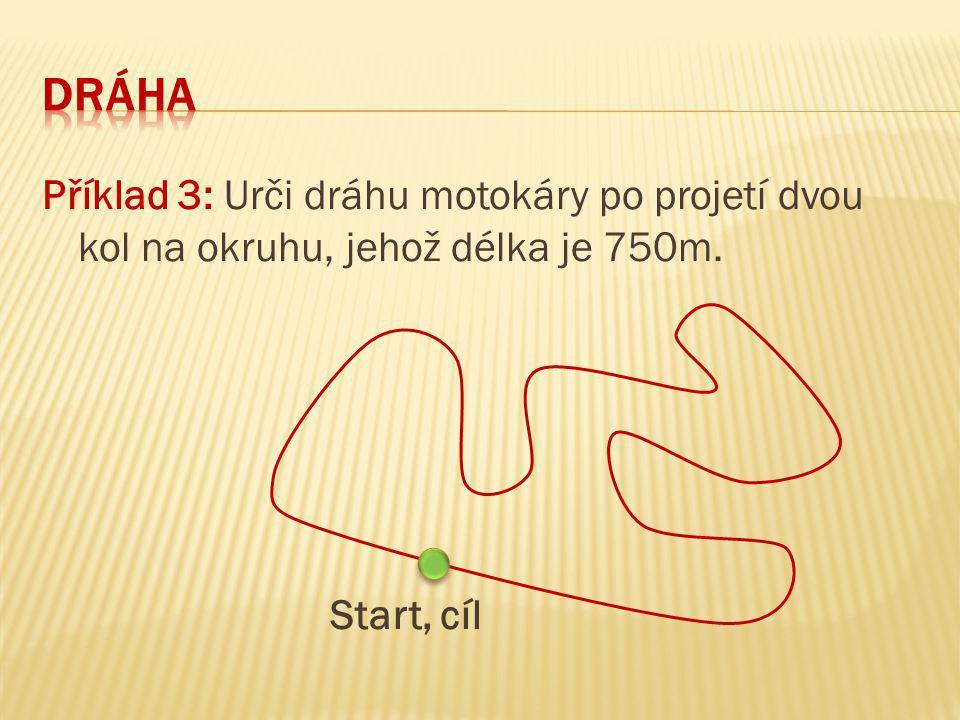 U křivočarého pohybu hmotného bodu není velikost dráhy určena vzdáleností jeho počáteční a koncové polohy.