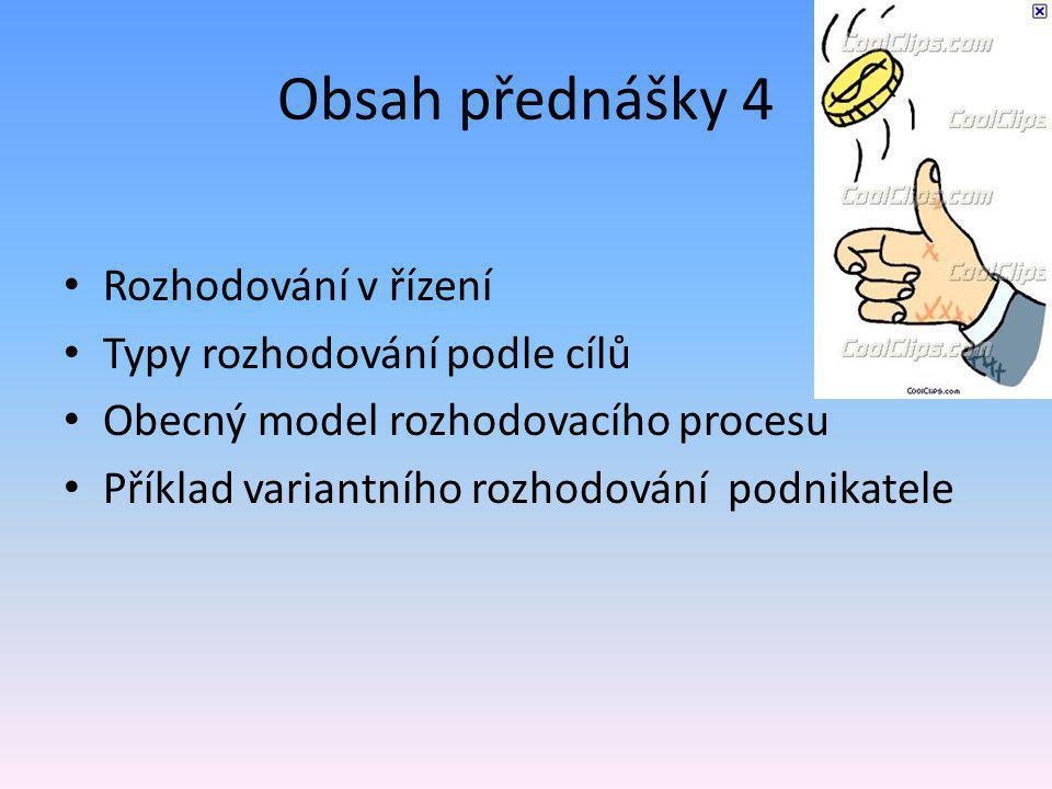 Struktura rozhodovacích procesů - obr.