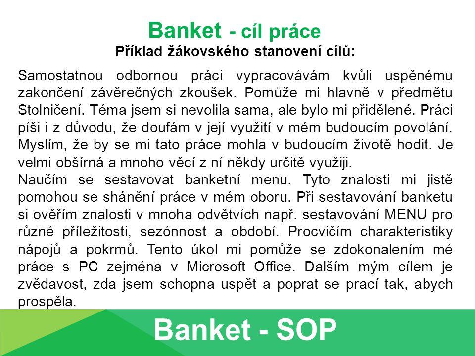 Banket – charakteristika příležitosti Rozsah minimálně 10 vět!!!.