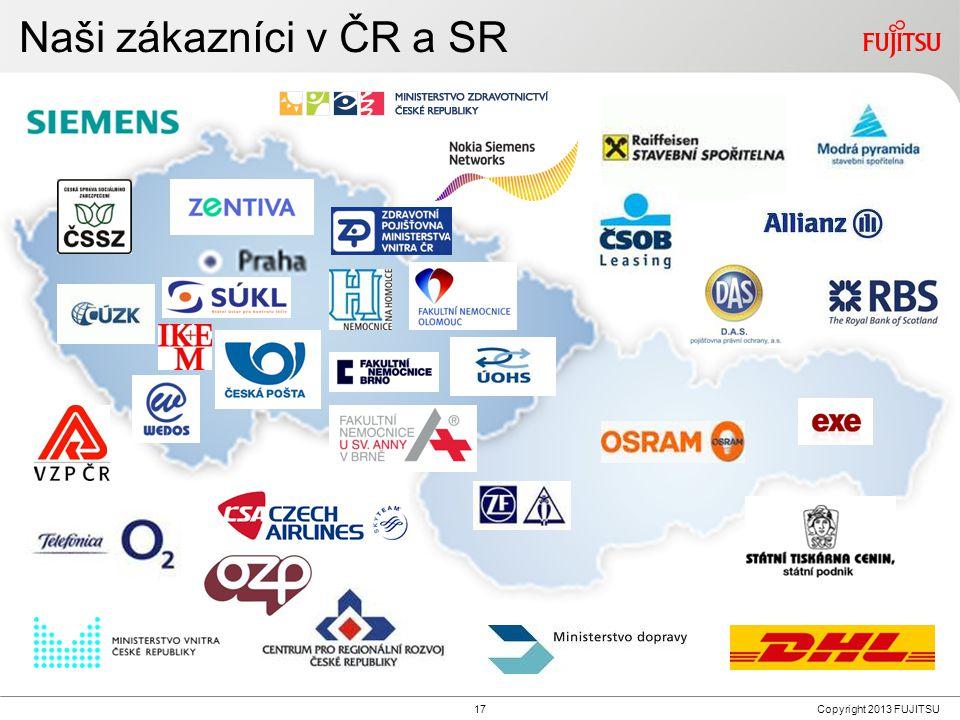 17Copyright 2013 FUJITSU Naši zákazníci v ČR a SR