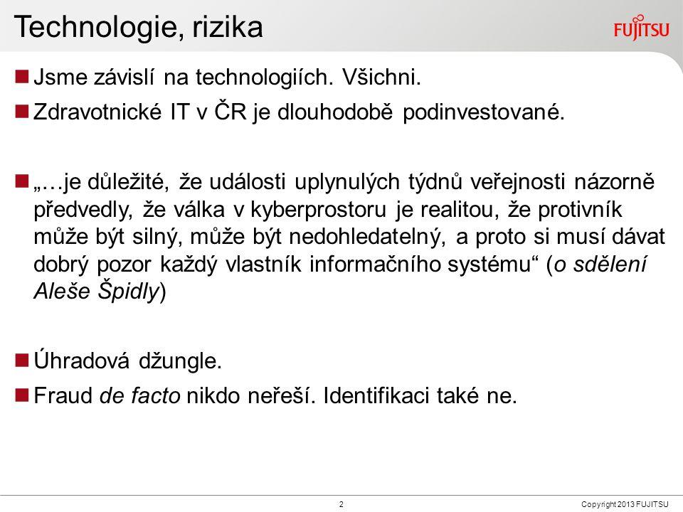2Copyright 2013 FUJITSU Technologie, rizika Jsme závislí na technologiích.