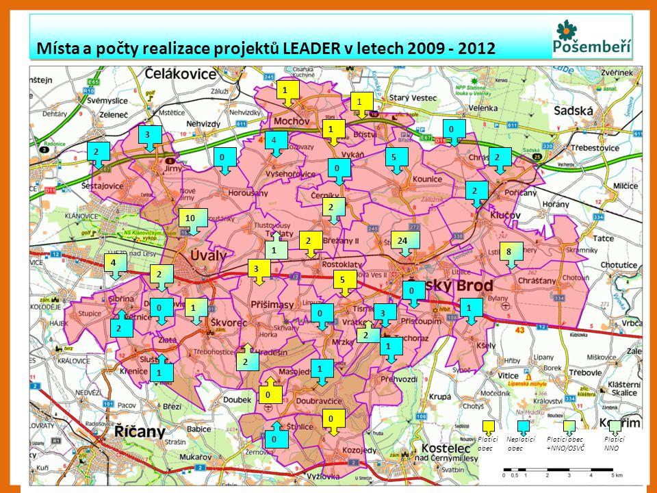 Místa a počty realizace projektů LEADER v letech 2009 - 2012 Místa a počty realizace projektů LEADER v letech 2009 - 2012 2 10 5 4 3 8 1 2 1 24 3 1 5