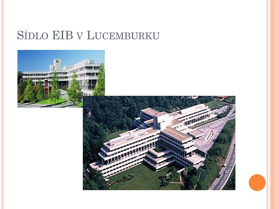 S ÍDLO EIB V L UCEMBURKU