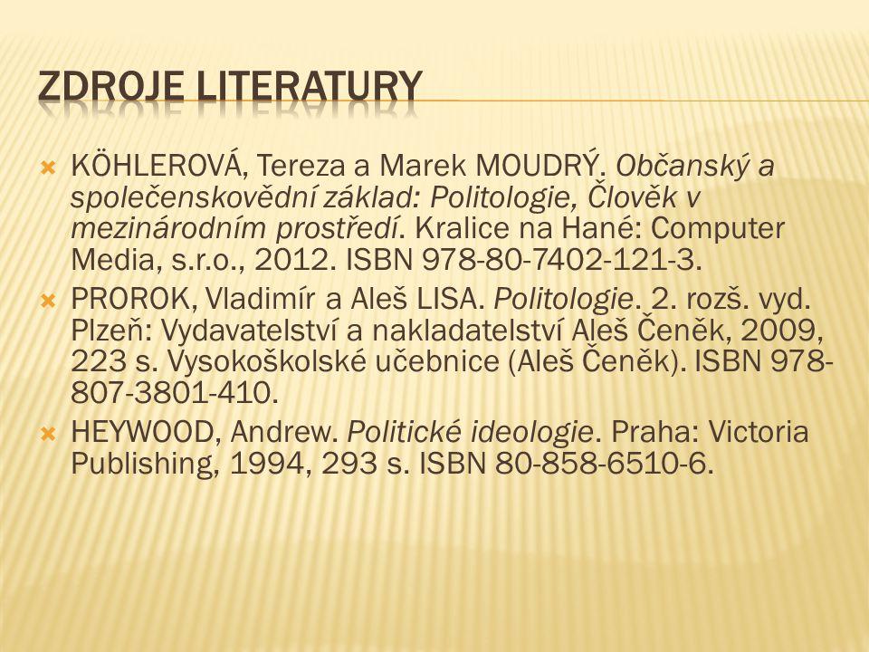  KÖHLEROVÁ, Tereza a Marek MOUDRÝ.